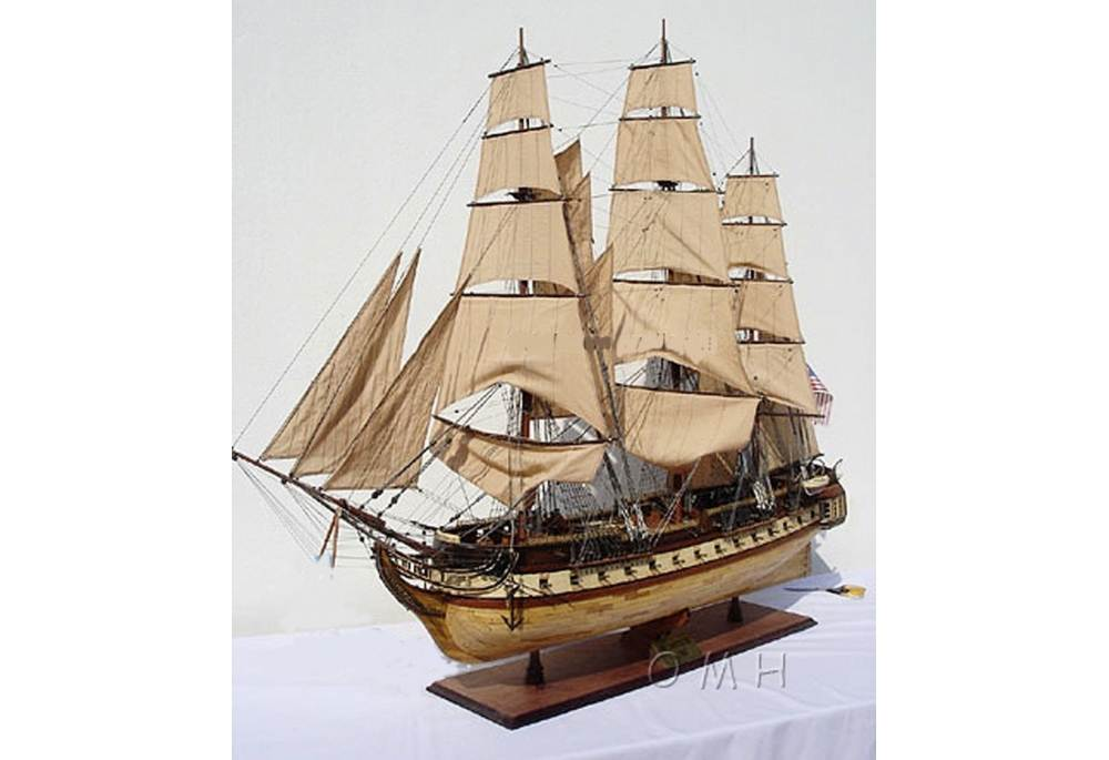 American Legendary Uss Constitution Model Ship Old Ironsides