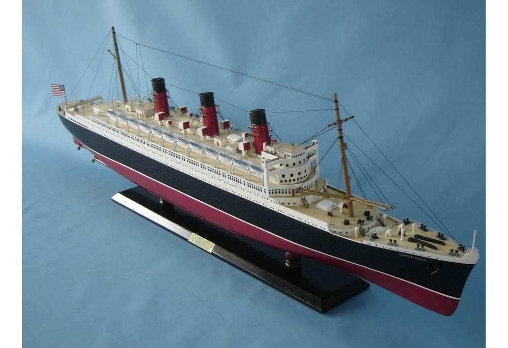 Queen Mary Cruising Ship Model
