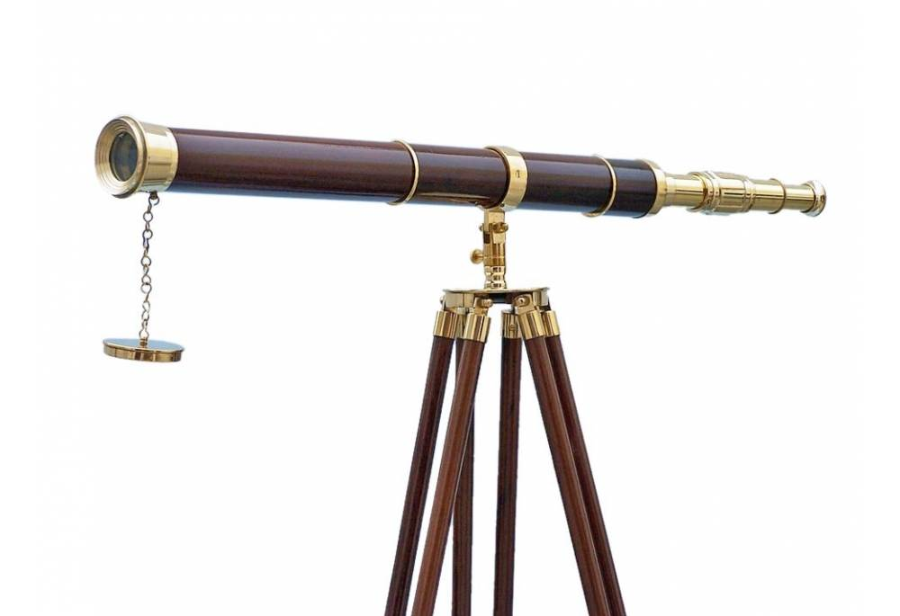 Hampton Nautical Admiral S Floor Standing Brass With Wood