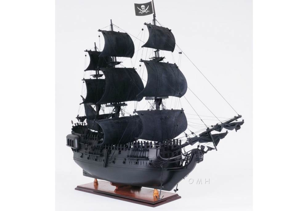 Black Pearl Wooden Pirate Ship Model