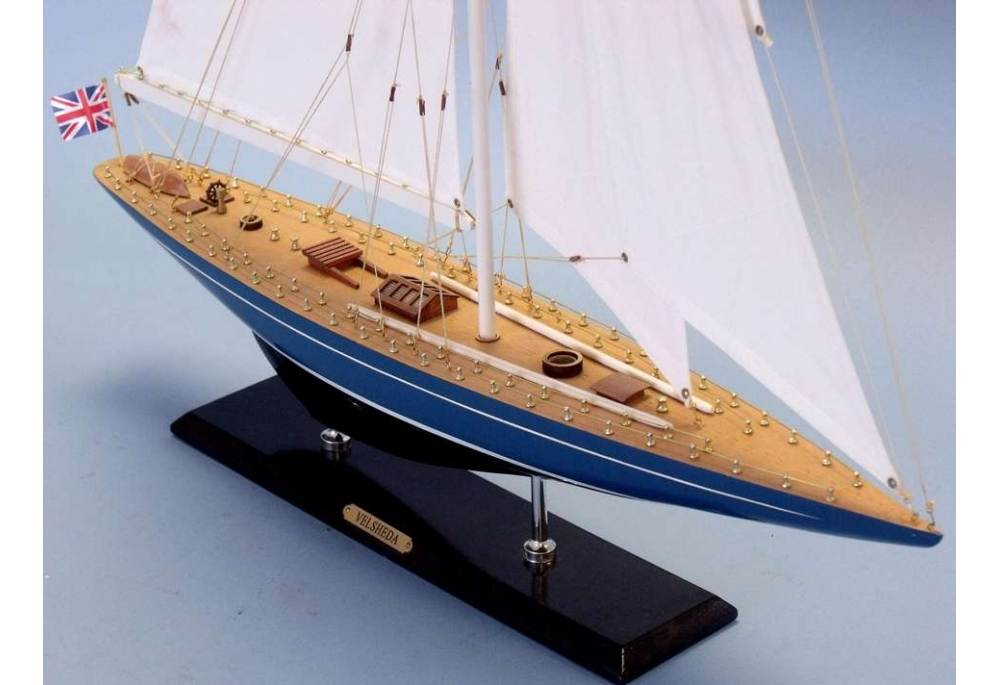 America S Cup Velsheda J Class Wooden Sailboat Model