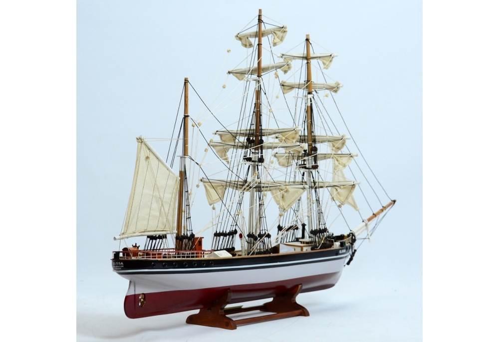 Tall Ship Elissa Galveston Texas Wooden Boat Model