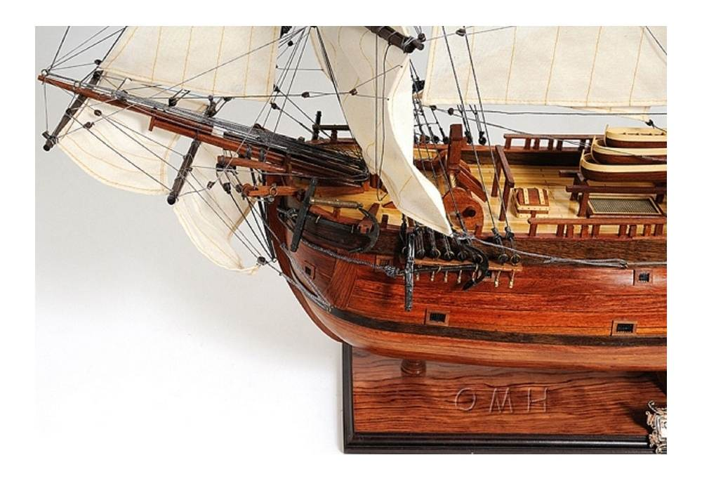 Hms Endeavour Hand Crafted Wooden Tall Ship Model 38 Quot