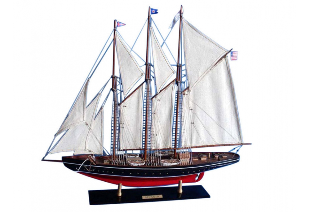 Schooner Atlantic Wooden Model