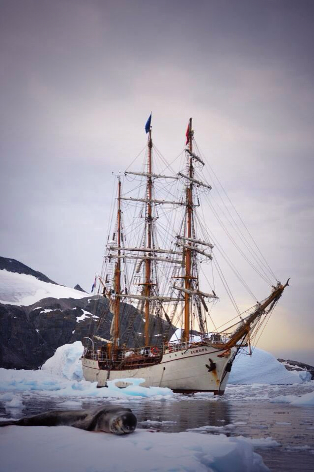Bark Europa in Antarctica