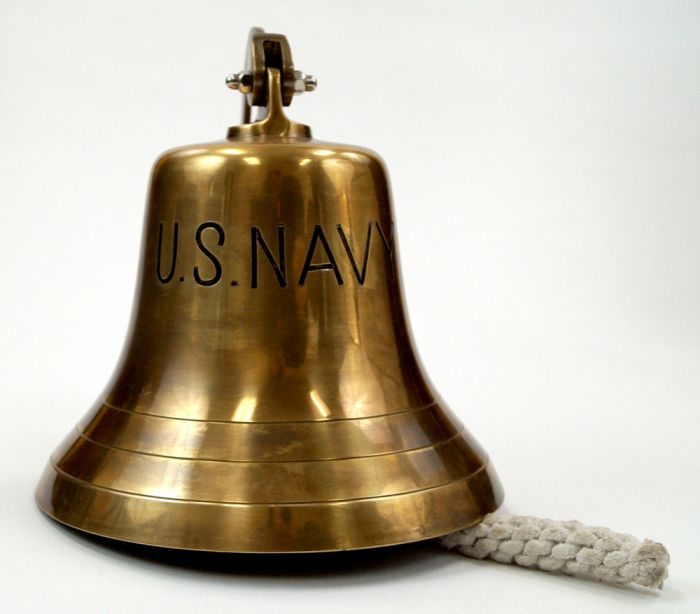 brass US Navy Ship's Bell