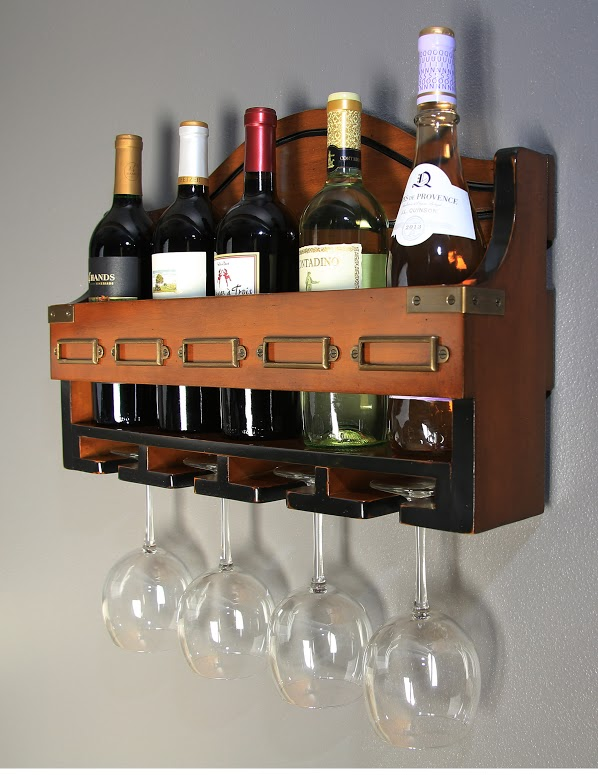 Wine Bottle and Glass Rack (1)
