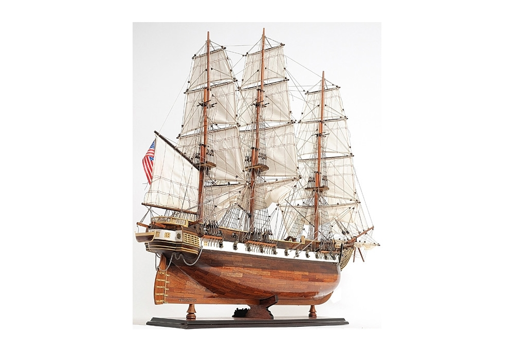 56-uss-constellation-frigate-wooden-tall-ship-model-very-large