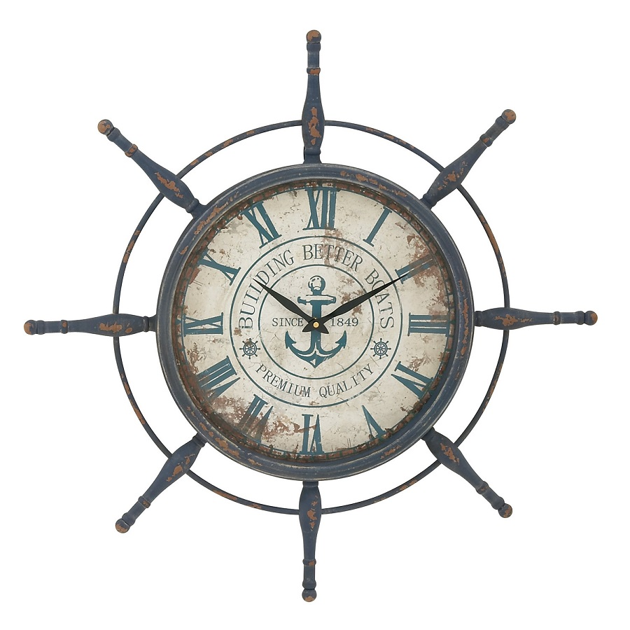Nautical Decor Ship Wheel Clock