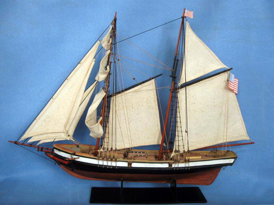 Square Topsail Schooner Lynx Model Ship