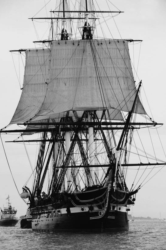 Tall Ship Under Sails