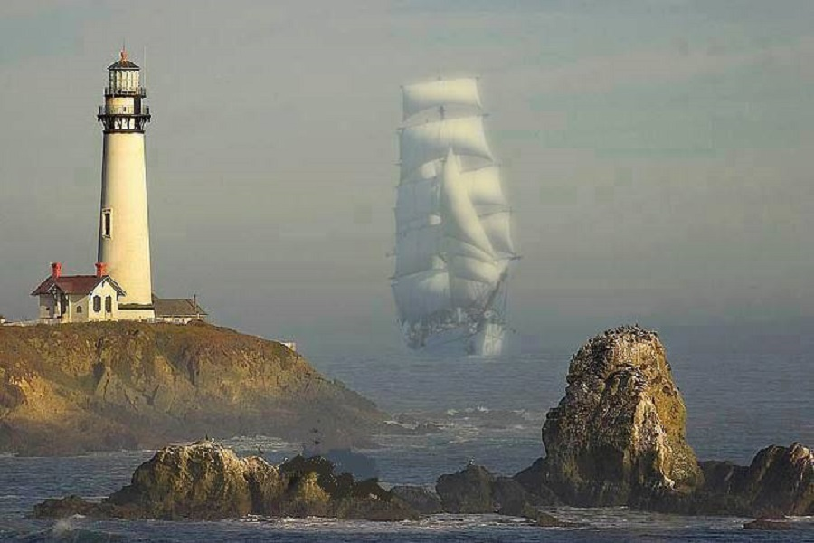 Tall Ship at the Lighthouse