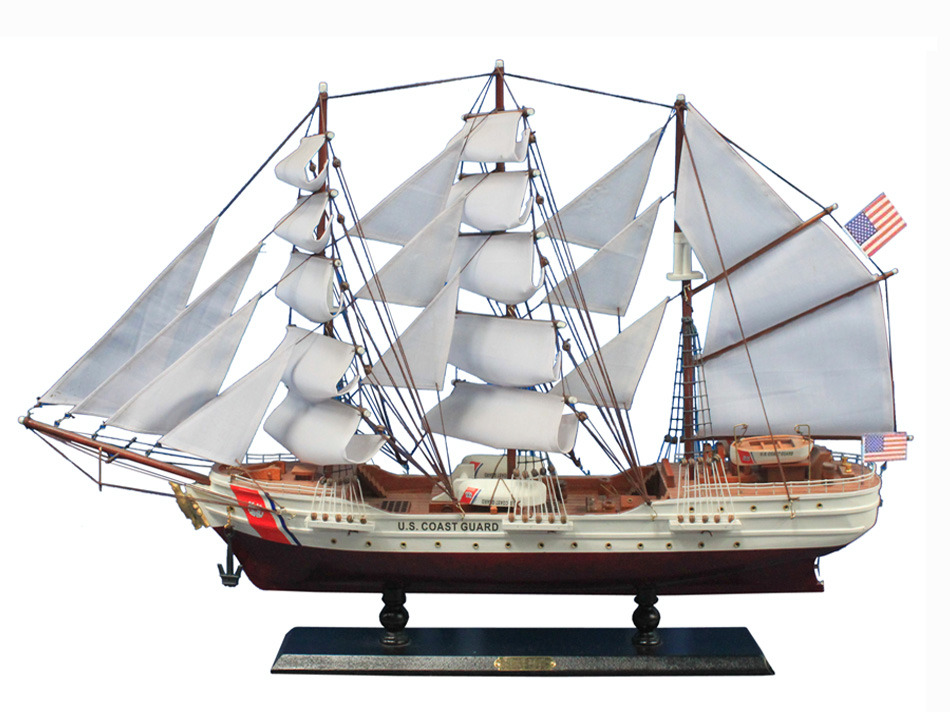 USCG Eagle Wooden Ship Model 8