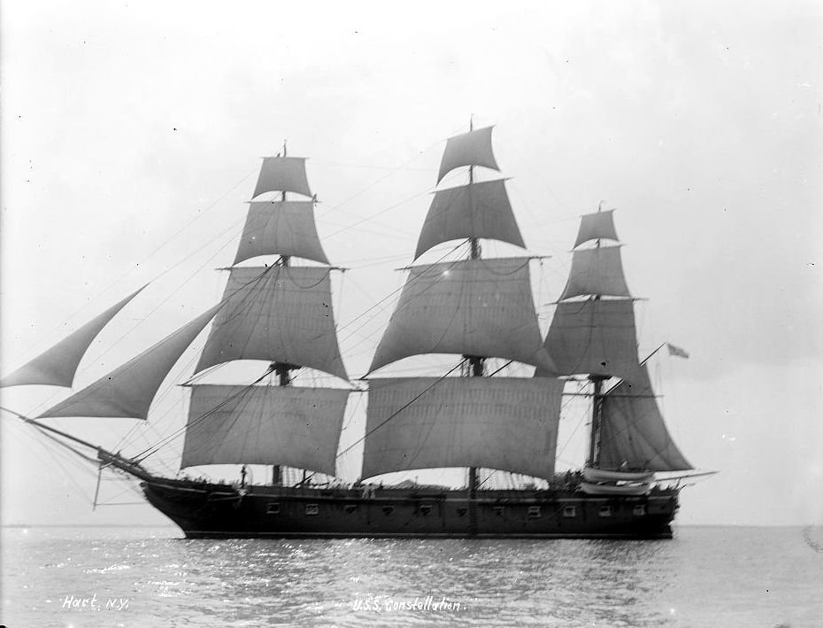 USS Constelation Tall Ship Under Sail