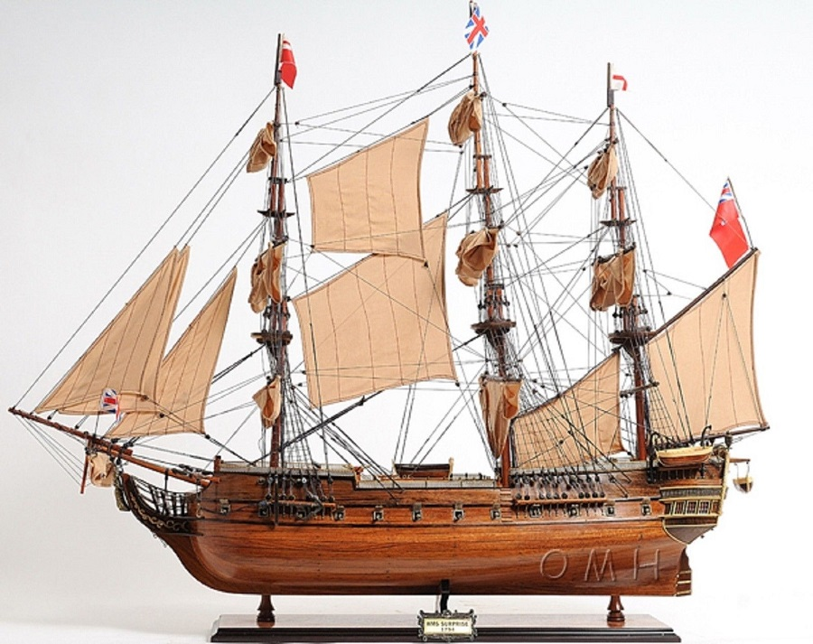 HMS Surprise Wooden Tall Ship Model