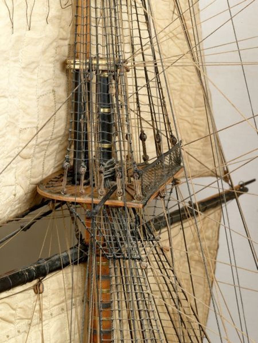 Tall Ship Details Mast and Rigging