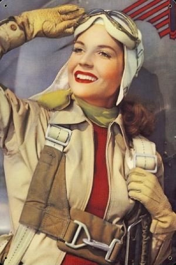 Vintage Flights Woman Aviator