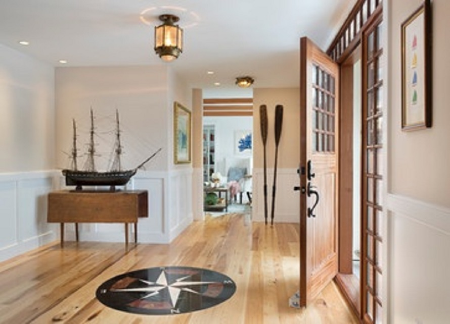 Wooden Decorative Oars and Model Ship