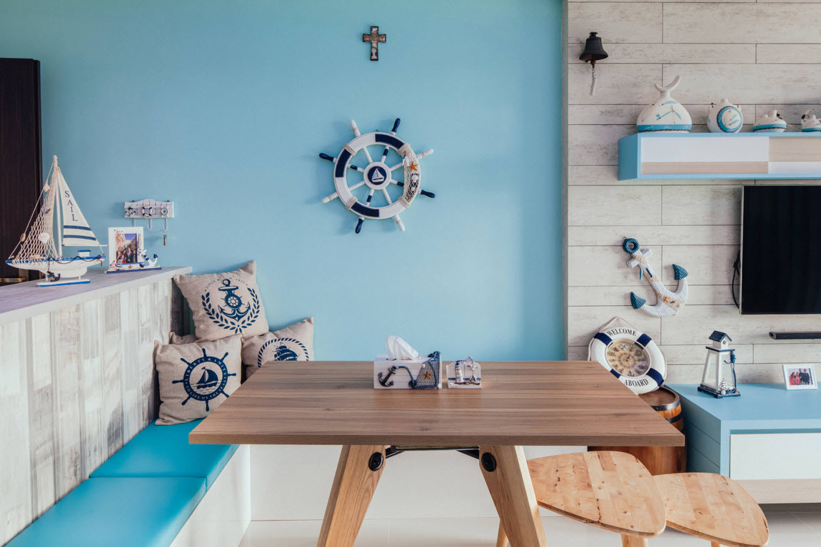 Nautical Home Decor Themed Living Room