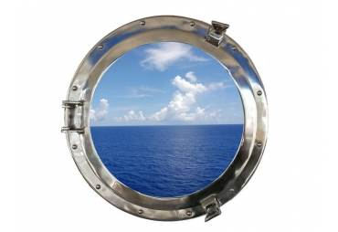 "Chrome Porthole Window 20"""