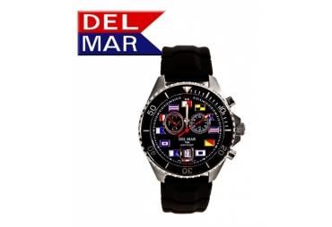 Men's 200M Swiss Exclusive Black Nautical Dial Del Mar Analog Tide Watch