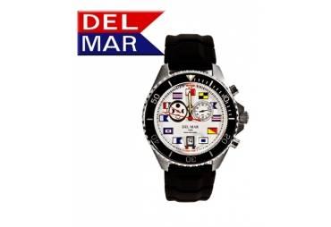 Men's 200M Swiss Exclusive White Nautical Dial Del Mar Analog Tide Watch