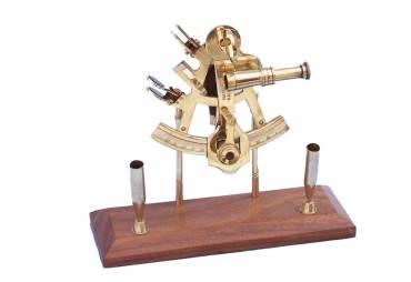 Brass Sextant Pen Holder