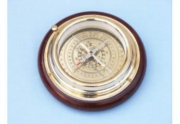 """Brass Directional Desktop Compass 6"""""""