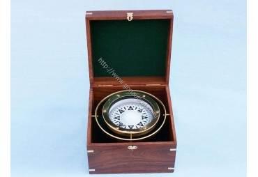 """Brass Gimble Compass 9"""""""