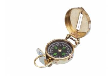 "Brass Military Compass 4"""
