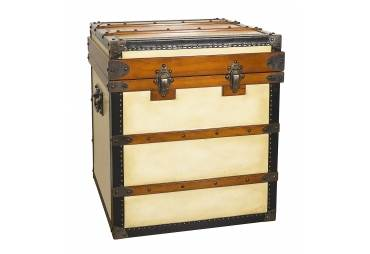 Polo Club End Table Steamer Travel Trunk