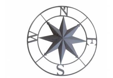 """Metal Rose Compass 27"""""""