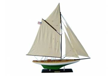 """America's Cup Wooden Sailboat Reliance Model Decoration 33"""""""