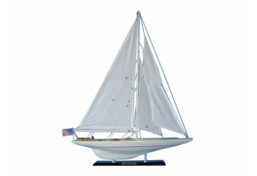 """Wooden Sailboat Model Intrepid 27"""" Limited Edition"""