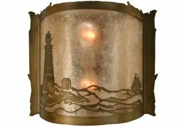 "15""W Lighthouse Wall Sconce Meyda Tiffany"