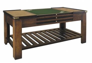 Large Wood Game Table Black Authentic Models