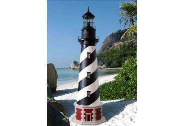 Cape Hatteras Stucco Electric Lawn Lighthouse 5'