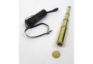Polished Brass Pirate Telescope w/ Pouch