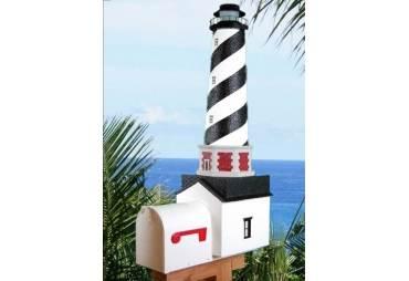 "Cape Hatteras Lighthouse Solar Powered Mailbox 36"""