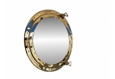 "Brass Ship's Porthole Mirror 20"" Decoration"