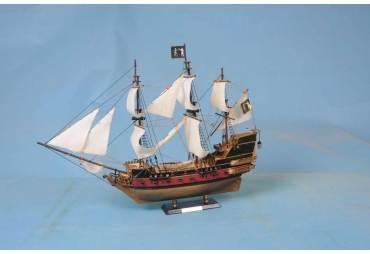 Black Bart's Royal Fortune Model Pirate Ship, White Sails