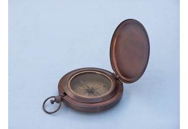 """Bronzed Captains Push Button Compass 3"""""""