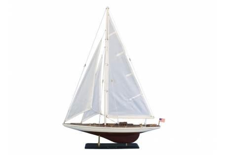 """Ranger"" Wooden Model Sailboat Decoration"