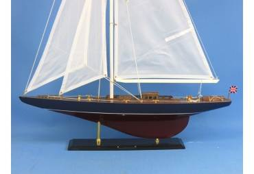 "Endeavour Wooden Sailboat Model Decoration 35"""