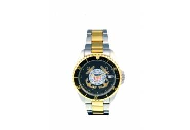 MEN'S COAST GUARD MILITARY WATCHES-TWO TONE
