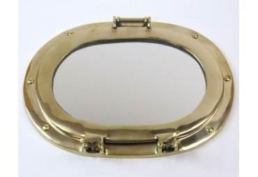 "Porthole Oval Mirror 12"""