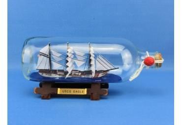 """USCG Eagle Ship In A Bottle 9"""""""