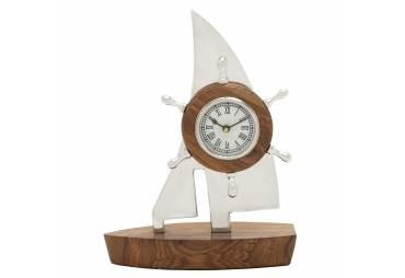 Aluminum Wooden Boat Clock