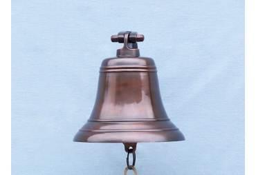"Antiqued Copper Bell 9"""