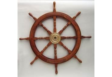 """Classic Wooden Ship Wheel Brass Cap 36"""""""